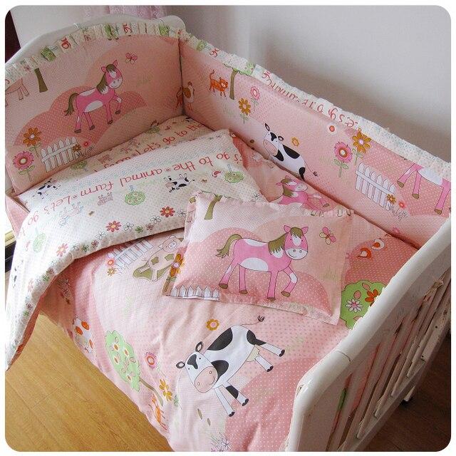 Cunas para bebés Happy Farm ropa de cama parachoques cuna conjunto ...