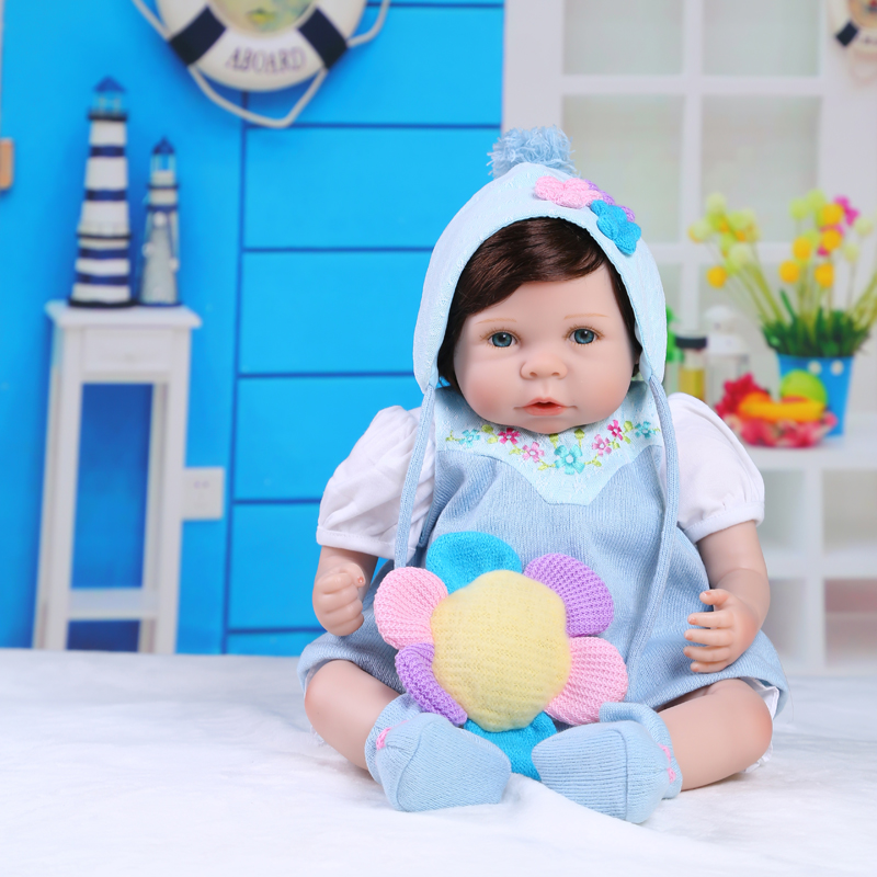 50cm Silicone Reborn Baby Girl Doll Toys Vinyl Newborn Babies Lovely Toddler Doll Girl Brinquedos Child Kids Toy Fashion Birthda 50cm silicone reborn babies doll toys lifelike vinyl lovely princess toddler doll kids birthday gift child girl brinquedos
