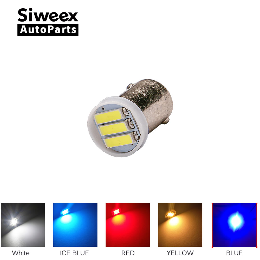 10x BA9S T4W 3-7020 SMD LED Bulb DC 12V Side Marker Lamp License Plate Bulb Door Lights  White/Yellow/Red/Blue/Ice blue бутылка 0 4 л asobu ice t 2 go фиолетовая it2go violet