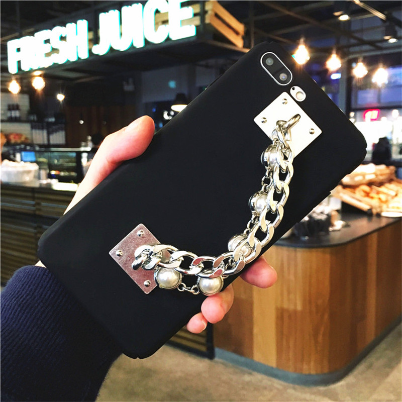 For iphone 6 6S PLUS 7 7 PLUS 2017 Luxury Fashion Pearl <font><b>Bracelet</b></font> <font><b>Phone</b></font> <font><b>Case</b></font> Design Hard PC All-Inclusive Cover