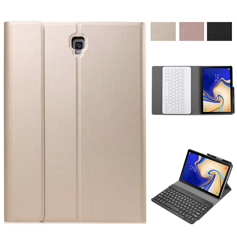 For Samsung Galaxy Tab S4 10.5 T830 T835 Case Detachable Bluetooth Keyboard Leather Stand Flip Case for Samsung Galaxy Tab S4 polka dot pattern protective pu leather case for samsung galaxy s4 i9500 white black