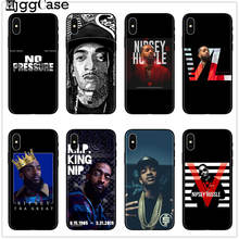 RIP Nipsey Hussle telefoon Case Voor iPhone X 7 Plus XS Rapper Nipsey Hussle Silicone Cover case Voor iPhone 6S 8 6 Plus XS Max Case(China)