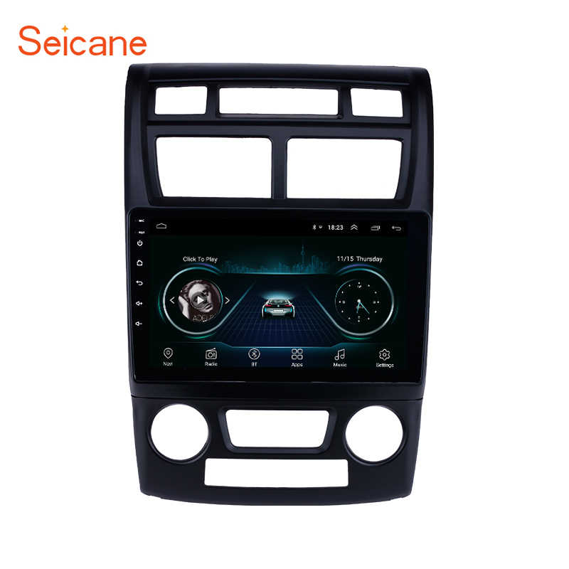 Seicane Car multimedia Palyer For KIA Sportage Auto A/C 2007-2017 2.5D screen Android 8.1 GPS Navigation Bluetooth Car Radio