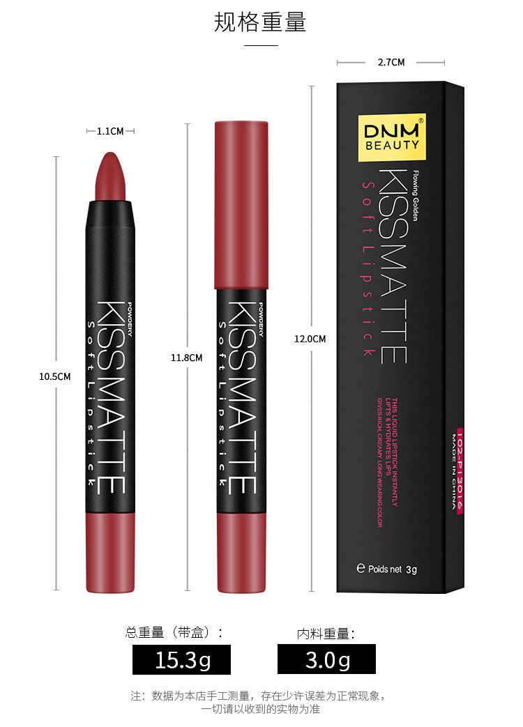 19 couleurs mat rouge à lèvres crayons mat cosmétiques lèvres Nude beauté femmes maquillage rouge couleur étanche lèvres rouge à lèvres