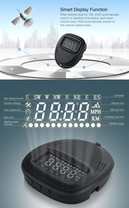 Image 4 - A1 GPS Universal Car Head Up Display HUD Speedometer Windshield Projectorr Speed Alarm Display Kilometers Security Alarm