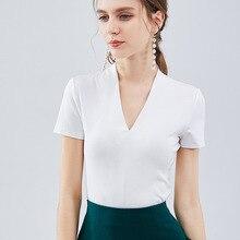 Глубокий v-образный вырез, женская летняя Новинка, пальто, сексуальная плотная футболка с короткими рукавами, низкая грудь, футболка с коротким рукавом