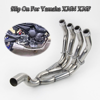 Motorcycle Header Link Pipe Stainless Steel Front Connect Pipe Without Muffler Tail Slip On For Yamaha XJ6N XJ6F Scooter Escape