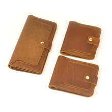 цена на The new brand purse Men's leather brief paragraph retro men's wallet wallet leather wallet card package 5302 zero
