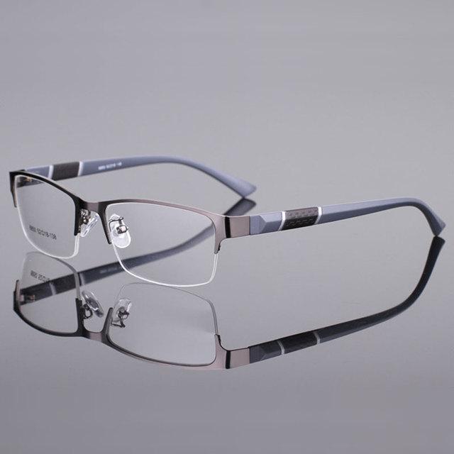 Reven Jate 8850 Half Rim Alloy Front Rim Flexible Plastic TR-90 Temple Legs Optical Eyeglasses Frame for Men and Women Eyewear