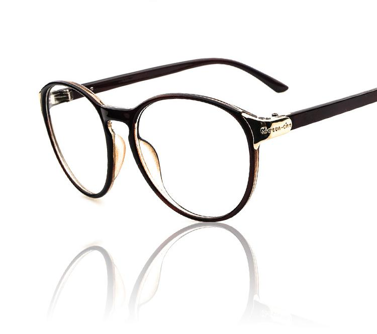 Big Framed Fashion Glasses : No Degree Myopia Glasses Retro Big Glass Frame Fashion ...