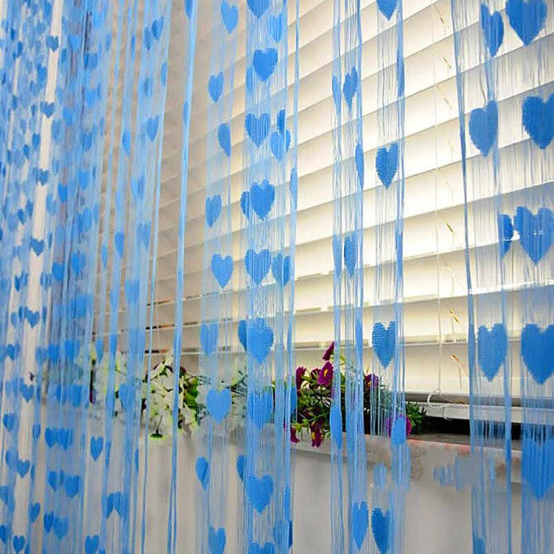 Heart Tulle Curtains Modern Curtains for Living Room Transparent Tulle Curtains Window Drapes Sheer curtains for living room