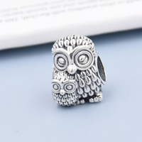 100 925 Sterling Silver Charms Owls Family Animal Screw Charms Fit Original Brand Bracelets Necklaces Beads