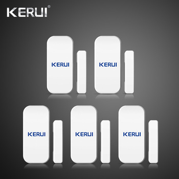 Kerui 5 piezas 433 MHz inalámbrico de ventana de puerta magnético Detector de Gap Sensor de seguridad para el hogar sistema de alarma teclado táctil