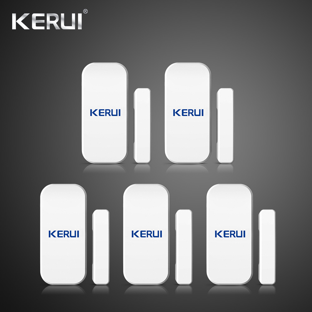 Kerui 5PCS 433MHz Wireless Door Window Magnetic Detector Gap Sensor For Home Security Alarm System Touch Keypad smartyiba 433mhz wireless door window sensor door open detection alarm door magnetic sensor door gap sensor for alarm system
