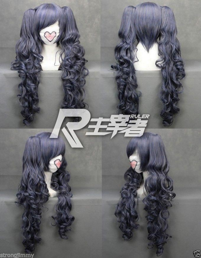 100% Brand New High Quality Fashion Picture wigs>>>Black Butler Kuroshitsuji CIEL long Phantomhive Ponytail Cosplay Anime Wig free ship new fashion love live ayase eli yellow girl s cosplay party wig with ponytail