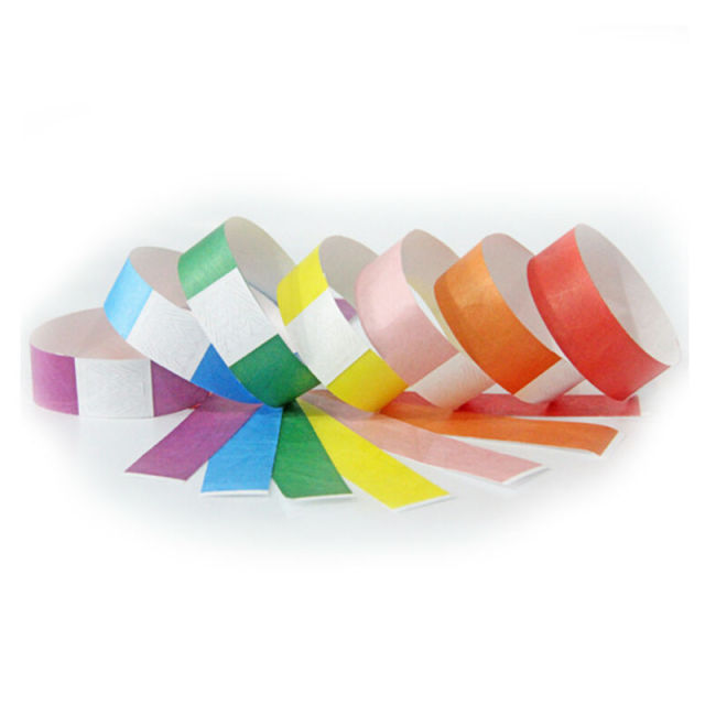 200pcs Without Logo Full Color Printing Band Bracelets Wristbands Paper For Events