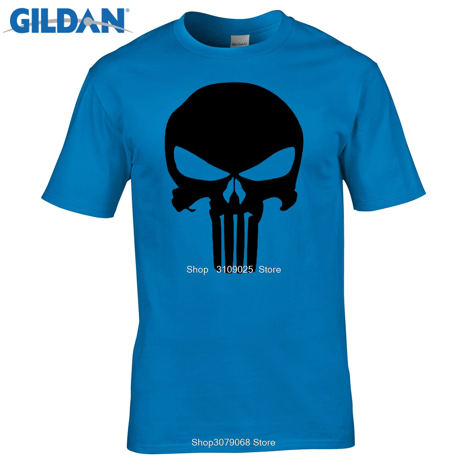 The Punisher Skull Men Print Marvel Comics Supper Hero Clothes HIP HOP Style Cool Summer T Shirt Men Clothing image