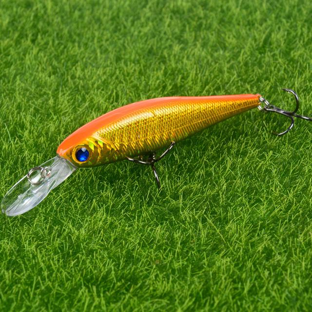 Hot Sale 10cm 9g Hard Minnow Fishing Lure Topwater Floating Wobblers Crankbait Bass Artificial Baits Pike Carp Lures Peche