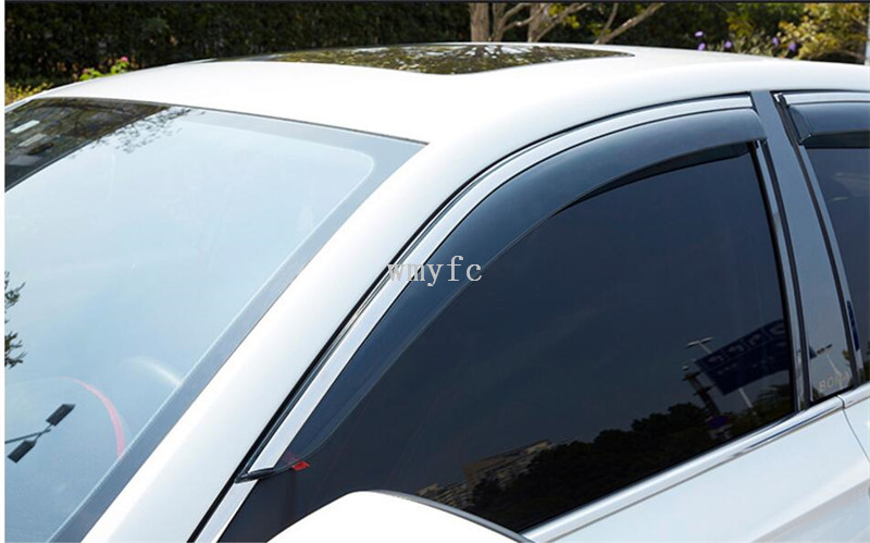 Sun Rain Deflector Guard For VW GOLF 6 mk6 2010 2011 2012 Window Visor Vent Shades Awnings Car Styling Accessories 4 pcs/set hot sale abs chromed front behind fog lamp cover 2pcs set car accessories for volkswagen vw tiguan 2010 2011 2012 2013