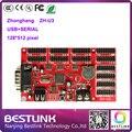 Zhonghang ZH-U3 levou placa controladora 128*512 pixel LED vermelho único cartão p10 painel de led placa do sinal mensagem levou sinal movente diodo emissor de luz