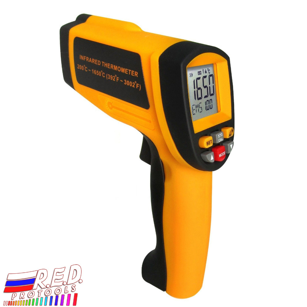 Digital 50:1 DS Professional Digital Infrared IR Laser Thermometer Pyrometer 200~1650 degree C (392~3002 degree F) Range|Temperature Instruments| |  - title=