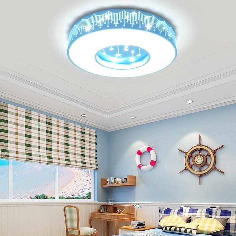24W LED ceiling lamp AC85 265V modern creative arts star moon children's room Round ceiling Lights bedroom decoration lights