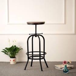 IKAYAA Барные табуреты стул промышленных Стиль барный стул регулируемая высота шарнирного соединения барный стул натурального соснового