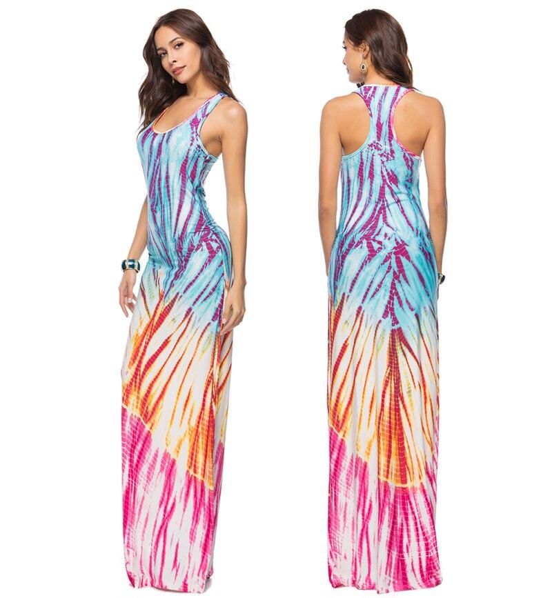 2018 Women Summer Casual Beach Maxi Dresses Boho Floor Length Elegant Bodycon Party Long Bohemian Dress Plus Size 3XL 4XL 5XL 7