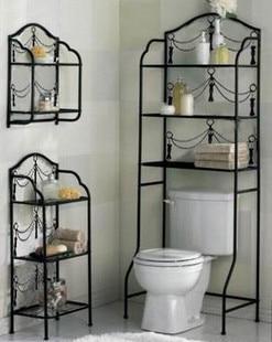 Wrought Iron Toilet Frame Bathroom Rack Shelf Set