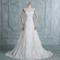 Latest Western Style Sexy Lace Wedding Dress Real Image Elegant Appliqued Wedding Gown Plus Size Wedding