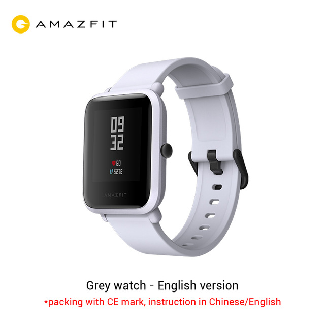xiaomi Amazfit Bip Smart Watch Bluetooth GPS Sport Heart Rate Monitor IP68 Waterproof Call Reminder MiFit APP Alarm Vibrationxiaomi Amazfit Bip Smart Watch Bluetooth GPS Sport Heart Rate Monitor IP68 Waterproof Call Reminder MiFit APP Alarm Vibration