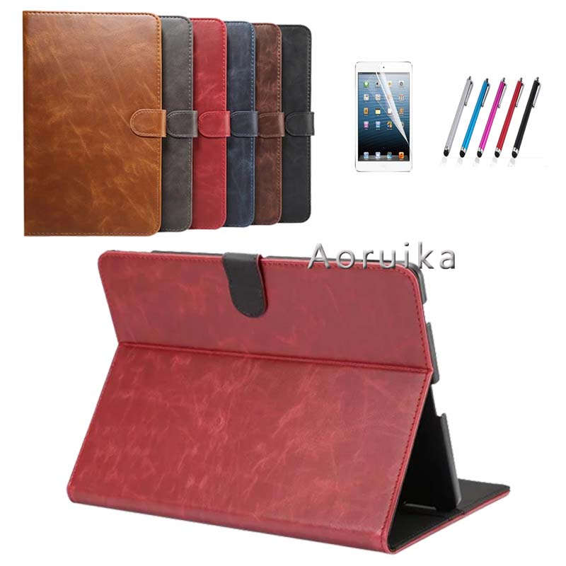 Ultra-thin Magnet PU Leather Cover Case for Huawei MediaPad M2 10.0 M2-A01L / M2-A01M / M2-A01W +Protective Film +pen for mediapad m2 ultra thin smart filp pu leather case cover for huawei mediapad m2 7 tablet case stand cover protective stand