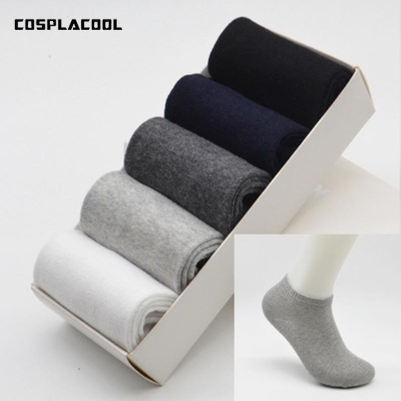 [COSPLACOOL]5 Pairs/Gift Box Men Socks Dresses Business Socks Men High Quality Meias Male Elastic Absorbent Calcetines Hombre