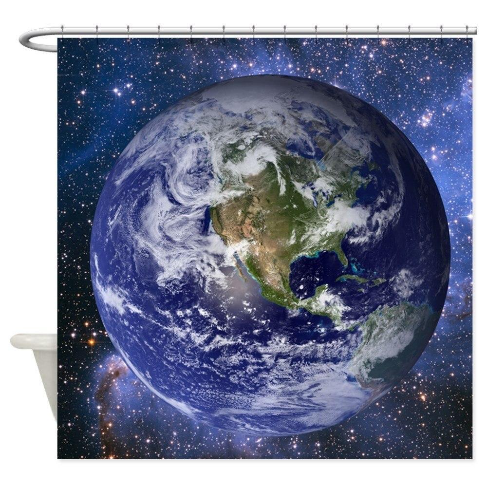 Big Blue Shower Curtain - Decorative Fabric Shower Curtain ()