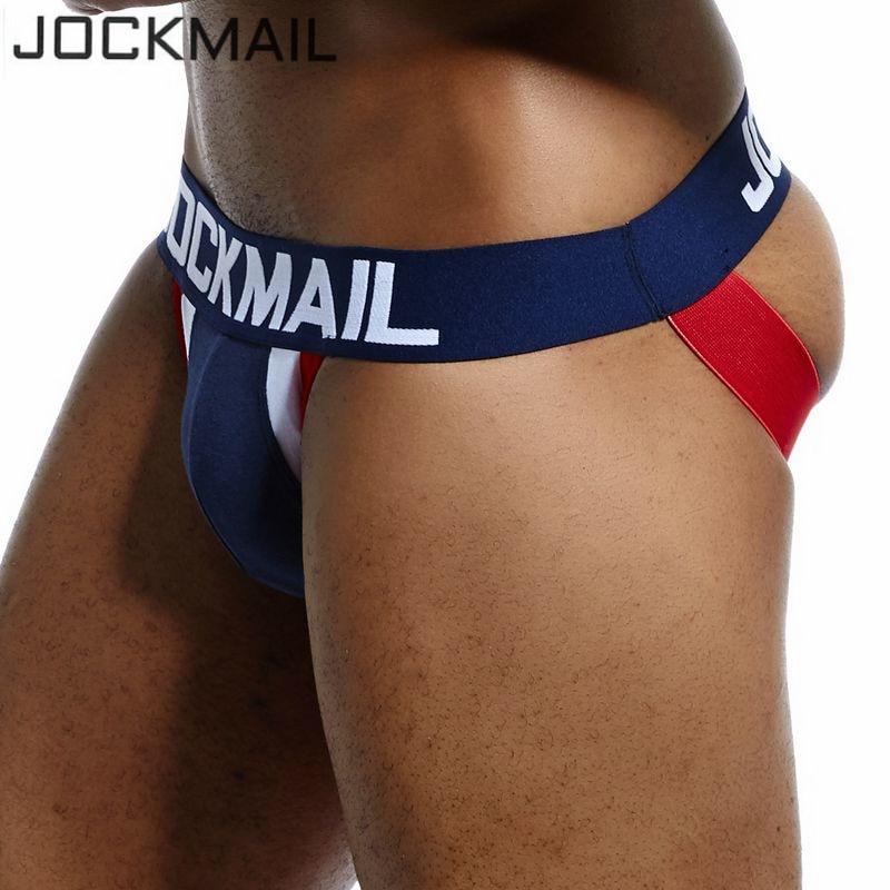 19d6cb4da0 JOCKMAIL Brand Men Underwear jockstrap sexy Cotton Patchwork jock straps  mens thongs and g strings cuecas panties gay Underwear