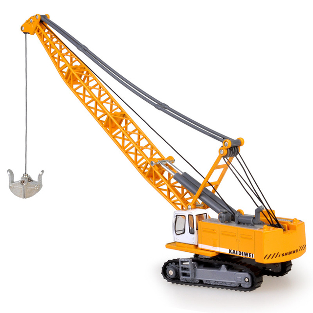Alloy Diecast 1:87 Crawler Tower Cable Excavator Diecast Model  Engineering Vehicle Tower Crane Collection Gift for Kids Toy