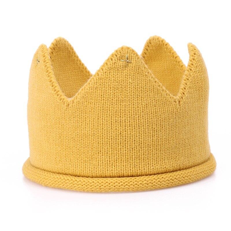 Online Shop Baby Crochet Crown Headband Little Boys Girls Crown Hat