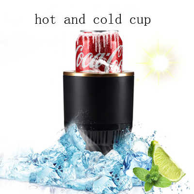 DC12V Car Hot and Cold Cup Freezing Heating portable Hot Cup Drink Holder Beverage Can Cooler Mini Thermal Kettle Refrigerator