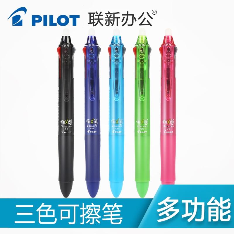 Japan PILOT LKFB-60EF Press Erasable Pen 0.5mm 3 Color Multifunction Erasable Pen 1PCS 2pcs lot baile pilot lkfb 60ef three color multifunctional erasable pen 0 5mm