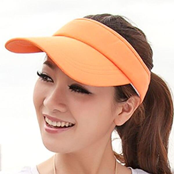Козырек шляпа летняя женская Солнцезащитная брендовая бейсбольные кепки регулируемый размер Viseira пляжная кепка LQH002 - Цвет: orange hat