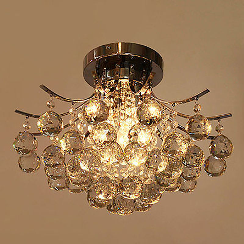 Modern fashion Crystal Ceiling Light fixtture home deco Flush Mount dining room lamp deco home вешалка