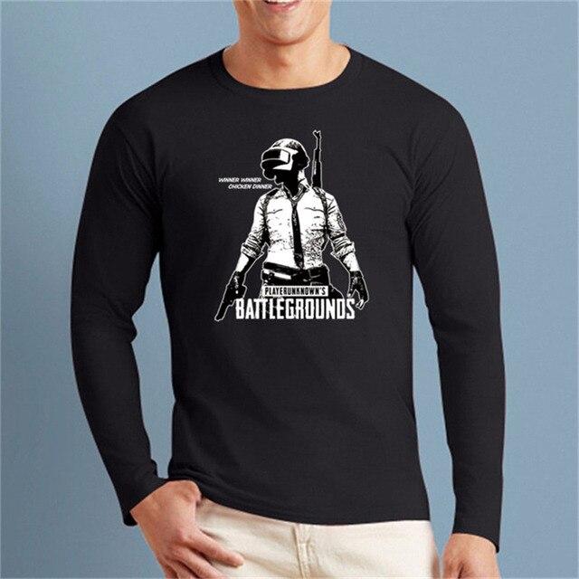 e5d36318590 Men s Games 3D PUBG tees Graphic Shirt PLAYERUNKNOWNS BATTLEGROUNDS Long  Sleeve t shirt New Cotton clothes Casual man t-shirts