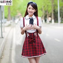 Strap Dress-Uniform Work-Wear Performance School-Chorus Girls Middle Korean Casual Students