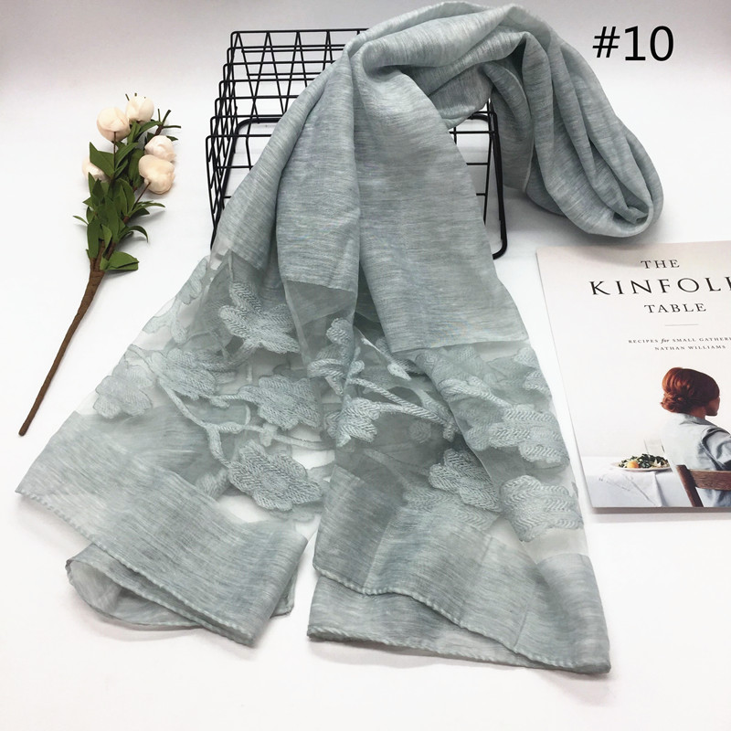 NEW lace hijab cut flower hijab Women plain scarf/scarves fashion hijabs soft echarpe wraps muffler hot sale scarves 11 colors