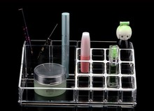 High Quality Transparent Two Layer Drawers Acrylic Cosmetic Organizer Drawer Makeup Case Storage Insert Holder Box Free Shipping