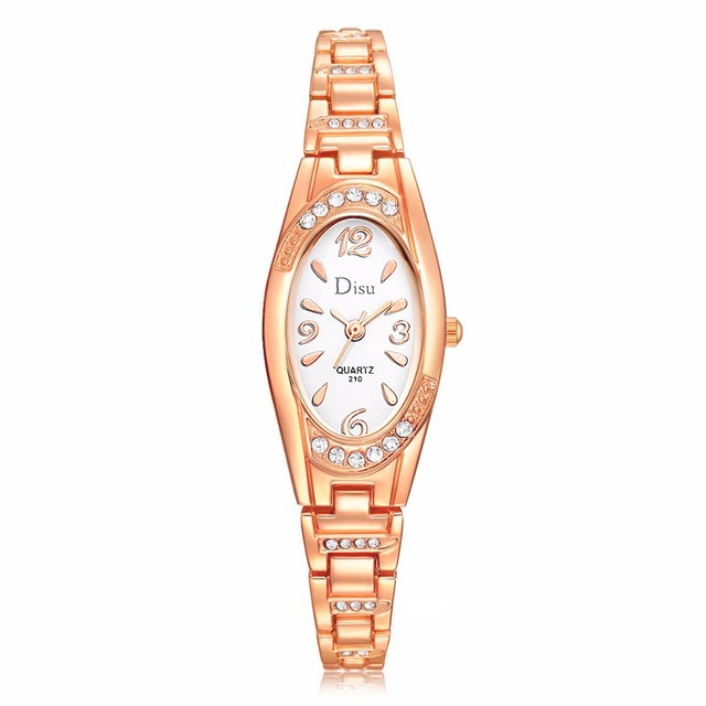 Rose Gold Casual Quartz Ladies WristWatches LVPAI New Arrive Ellipse Creative Wo