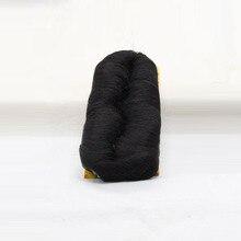 DLME 27 Шт. Bump Волос Ткачество Расширение С Бесплатным Закрытия и Cap Короткие Плетение Высокая Температура Натуральных Волос
