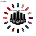 Verntion Professiona lucky colors Gel Lacquer Magnetic 3D Cat Eyes Gel Nail Polish UV Led Soak Off Long Lasting nail art set