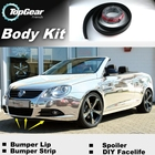 Bumper Lip Deflector Lips For Volkswagen VW Eos Front Spoiler Skirt For Top Gear Fans to Car View Tuning / Body Kit / Strip