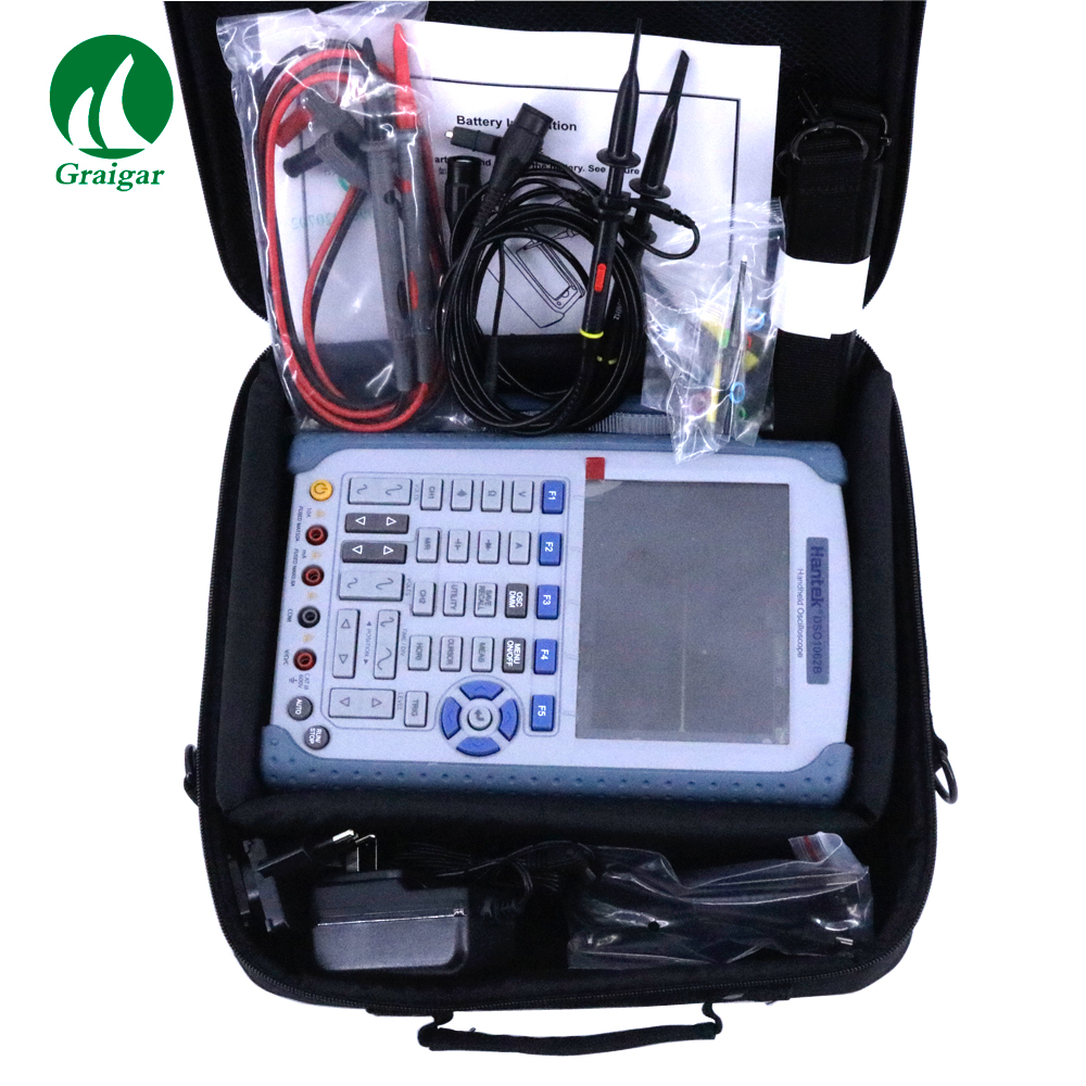 US $451 25 |DSO1062B Handheld Digital 60MHz Oscilloscope Multimeter 1M  Memory Depth Built in FFT function -in Oscilloscopes from Tools on
